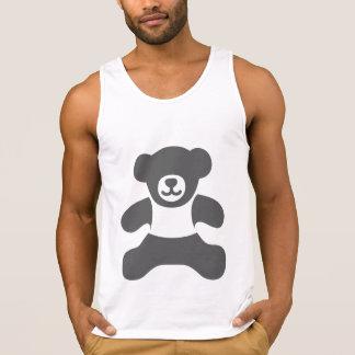 Absolute Teddy Bear - Dark gray filled Singlet
