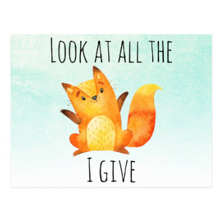 Absolutely No Fox Given Comical Animal Puns Postcard