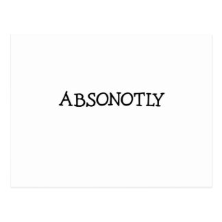 ABSONOTLY (simply black) Postcard