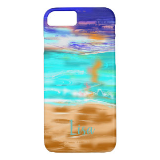 Absract Beach | Personalized iPhone 8/7 Case