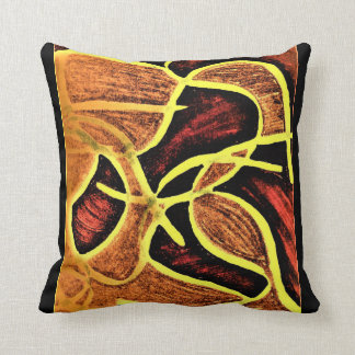 Absract cotton throw pillow. cushion