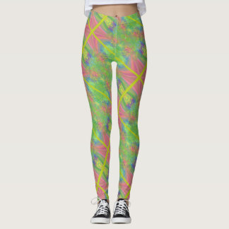 Absract Criss-Cross Leggings