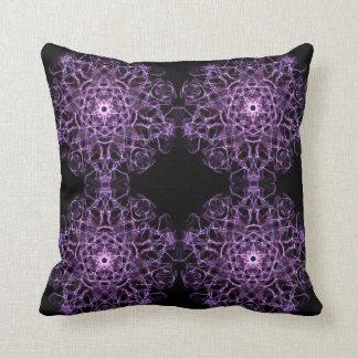 absract dynamic fractal mandala texture cushion
