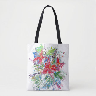 Absract Floral Tote Bag