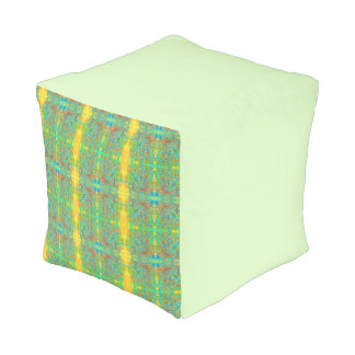 Absract Green Pouf