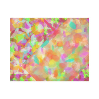 Absract Pink Collage Canvas Print