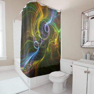 absrtact 101 shower curtain