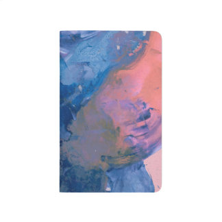 Abstact Art Pocket Journal - Blue Pink Modern