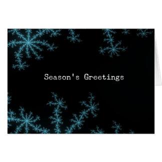 Abstact Blue Snowflake, Season's Greetings Greeting Card