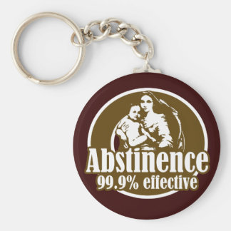 Abstinence 99 Effective Religious Humor Key Chain