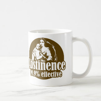 Abstinence 99% Effective Religious Humor Coffee Mug