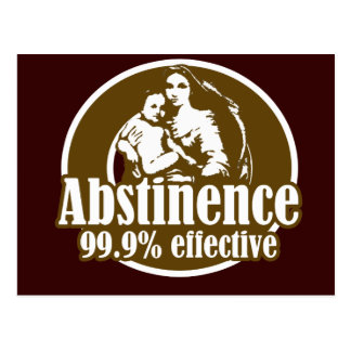 Abstinence 99% Effective Religious Humor Postcard