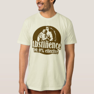 Abstinence 99% Effective Religious Humor T Shirts