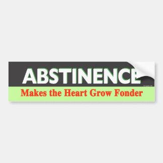 Abstinence Makes the Heart Grow Fonder Bumper Sticker