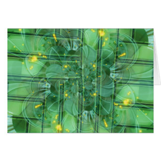 abstrac t pattern collage Flower green by Tutti Card