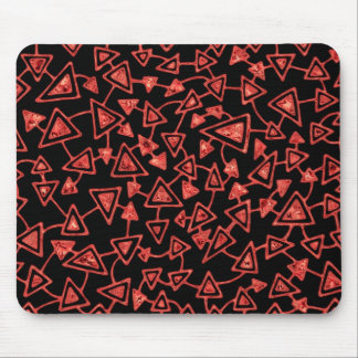 Abstract 021112 - Cranberry Ice on Black Mouse Pad