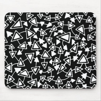 Abstract 021112 - White on Black Mouse Pad
