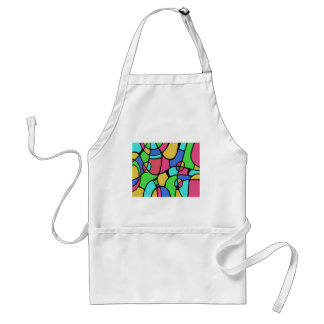 Abstract 02 adult apron