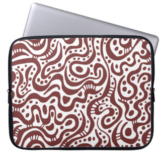 Abstract 041211 - Brown and White Computer Sleeve