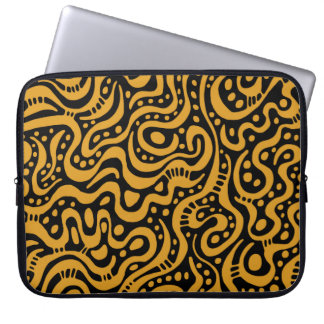 Abstract 041211 - Gold on Black Computer Sleeves