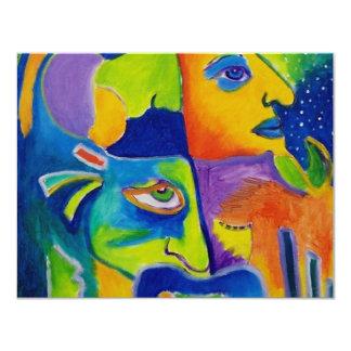 Abstract 10-18 11 cm x 14 cm invitation card