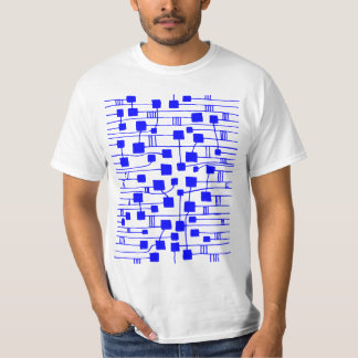 Abstract 111211 - Blue T-shirts