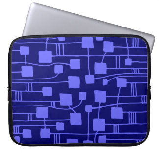 Abstract 111211 - Electric Blue on Dp Navy Computer Sleeves