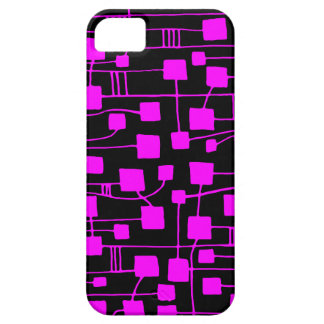 Abstract 111211 - Magenta on Black iPhone 5 Covers