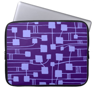 Abstract 111211 - Pastel Blue on Dp Purple Laptop Computer Sleeves