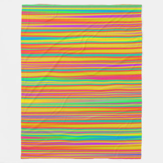 Abstract 120716(010) - Horizontal Stripes Fleece Blanket