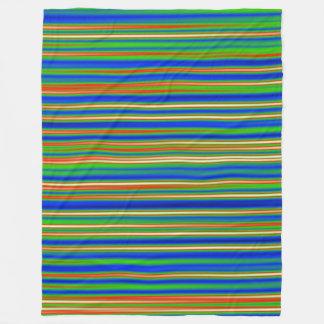 Abstract 130716(03) - Horizontal Stripe Fleece Blanket