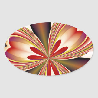 Abstract 161 oval sticker