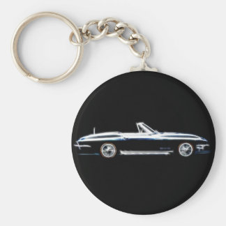 Abstract 1965 Chevrolet Corvette Stingray  Keych Key Ring