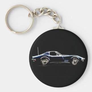 Abstract 1968 Chevrolet Corvette  Keych Key Ring