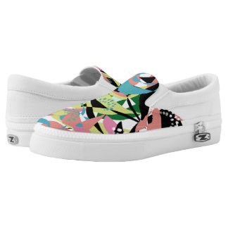 Abstract 1980s 80s Funky Cool Patterns Colorful Printed Shoes
