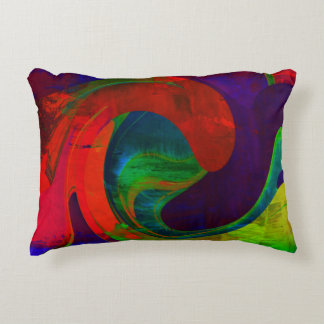 """ABSTRACT 1"" BRUSHED POLYESTER TOSS PILLOW ACCENT CUSHION"
