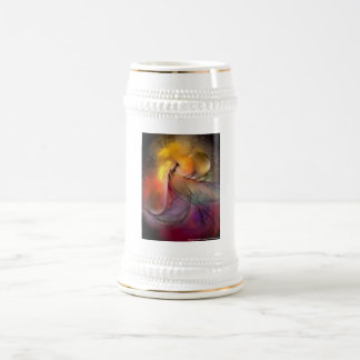 abstract 1 18 oz beer stein