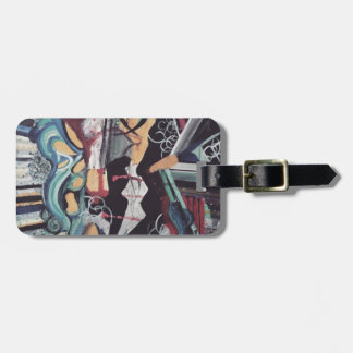 Abstract 2016 luggage tag
