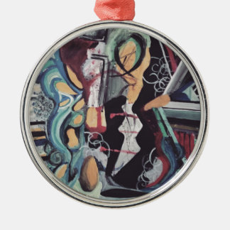 Abstract 2016 metal ornament