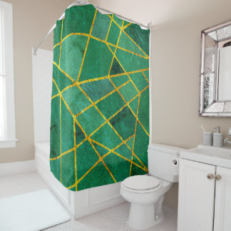 Abstract #245 shower curtain