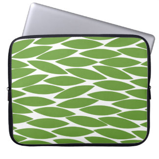 Abstract 250713 - Avocado Green on White Laptop Sleeve