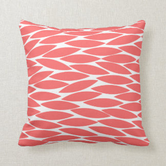 Abstract 250713 - Tropical Pink on White Throw Pillows