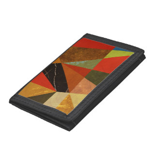 Abstract #257 Vincent's Bedroom Tri-fold Wallets