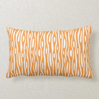 Abstract 280314 - Light Orange on White Throw Cushion