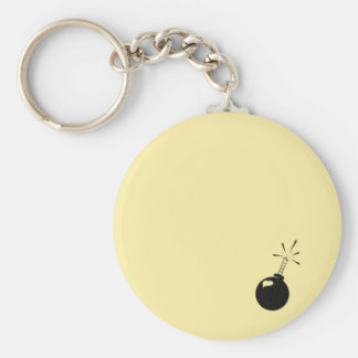 """Abstract 2.25"""" Basic Button Keychain"""