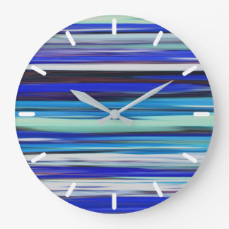 Abstract #2: Blue blur Large Clock