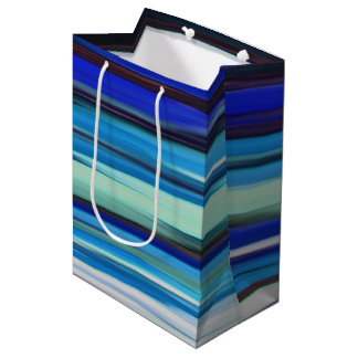 Abstract #2: Blue blur Medium Gift Bag