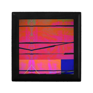 abstract 2 Linear Bold Orange Pink and Blue Gift Box