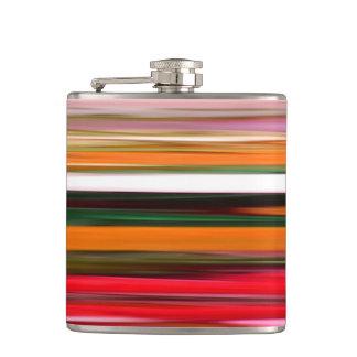Abstract #2: Orange blur Hip Flask