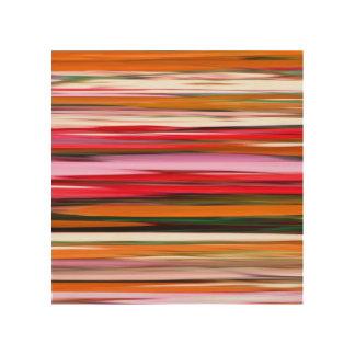 Abstract #2: Orange blur Wood Wall Art